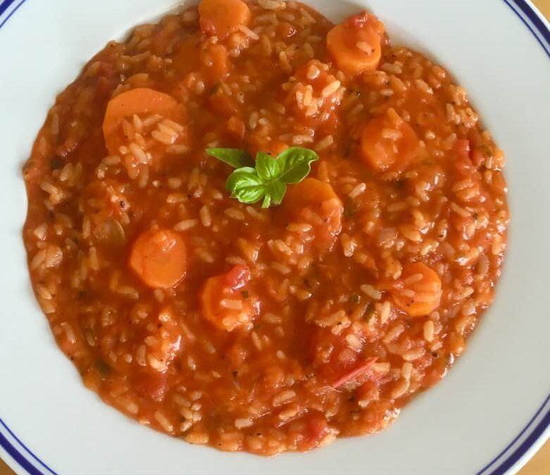Karotten-Tomaten-Risotto